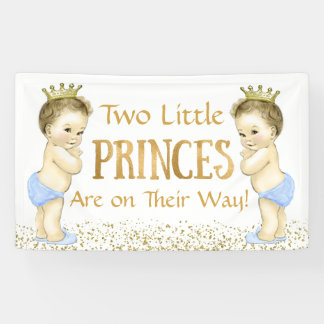 Twin Boy Prince Baby Shower