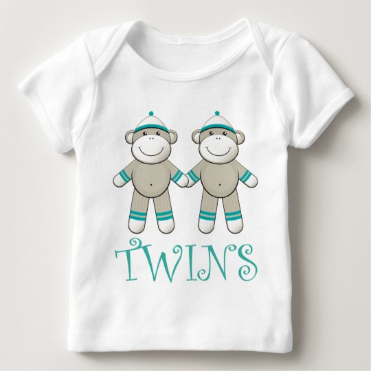 Twin Boy Sock Monkey T-shirt