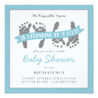 Twin Boys Couples Shower Invitation Blue Grey
