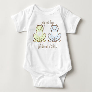 Twin Boys Frog Baby Bodysuit