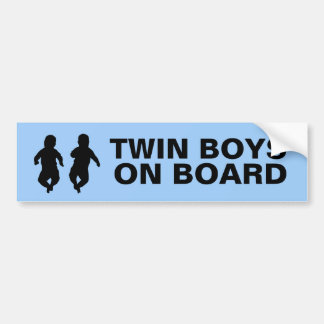 Twin Boys on Board Bumper Sticker
