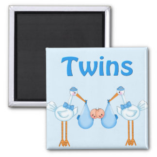 Twin Boys Square Magnet