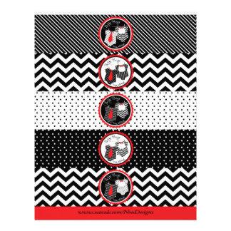 Twin Boys Tie Bow Tie Mix Print Water Bottle Label 21.5 Cm X 28 Cm Flyer