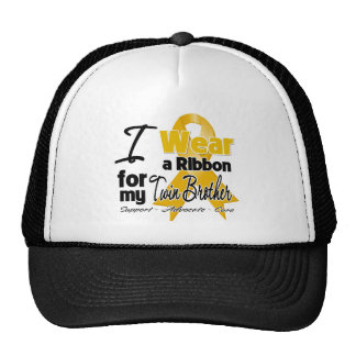Twin Brother - Appendix Cancer Ribbon Mesh Hats