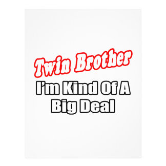 Twin Brother...Big Deal Flyer Design