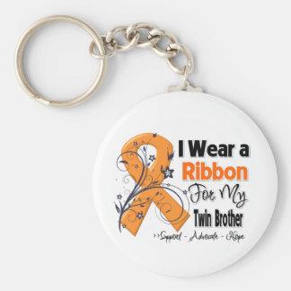 Twin Brother - Leukemia Ribbon Keychains