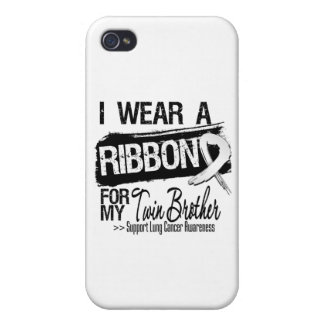 Twin Brother Lung Cancer Ribbon iPhone 4/4S Cover