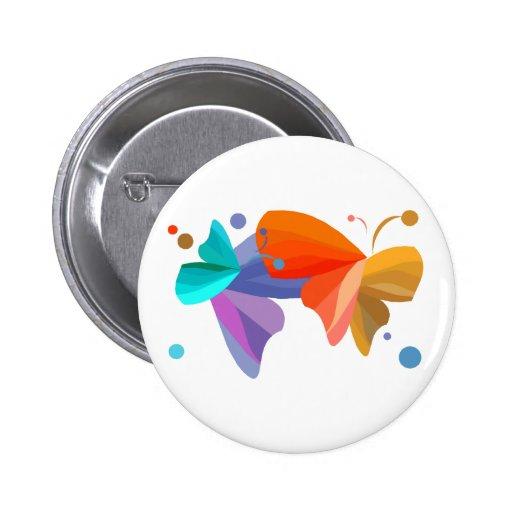 Twin Butterflies Pinback Buttons