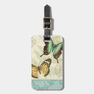 Twin Butterflies Luggage Tag