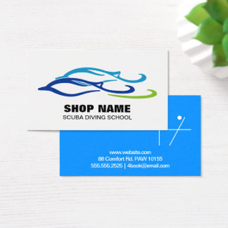Twin Dolphins Business Card