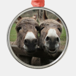 TWIN DONKEY PAIR ORNAMENT