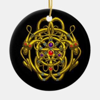 TWIN DRAGONS CHRISTMAS TREE ORNAMENTS