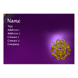 TWIN DRAGONS Purple Amethyst Business Card Templates