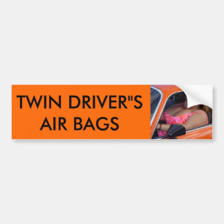 "TWIN DRIVER""S AIR BAGS BUMPER STICKER"