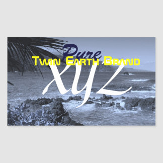 Twin Earth Brand: Pure XYZ Rectangular Sticker