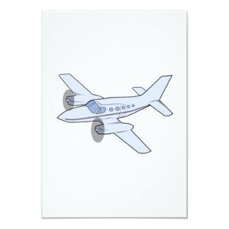 Twin-Engine Airplane 9 Cm X 13 Cm Invitation Card