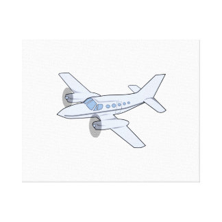 Twin-Engine Airplane Gallery Wrapped Canvas