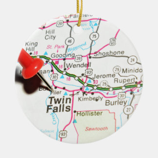 Twin Falls, Idaho Christmas Ornament