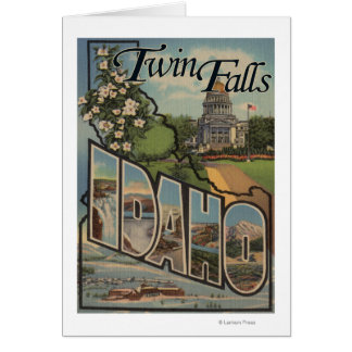 Twin Falls, Idaho - Large Letter Scenes Card