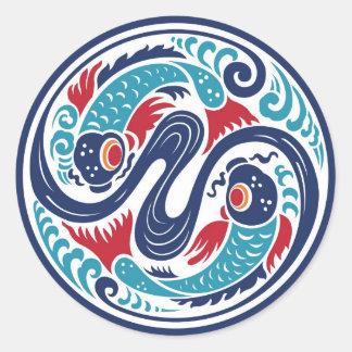 Twin Fish Classic Round Sticker