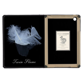 Twin flame feathers and reflection iPad mini cases