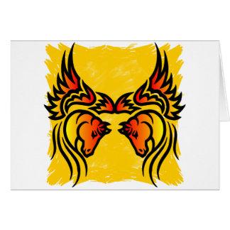 Twin Flame Pegasus Card