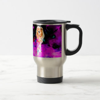 TWIN FLAME psychedelic Travel Mug