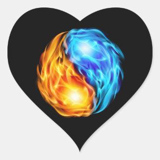 Twin Flames Heart Sticker