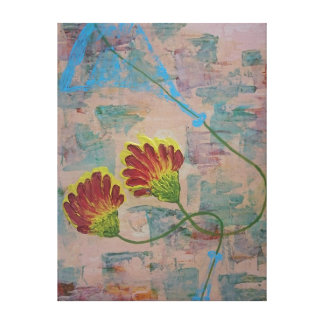 Twin Flowers 51 x 40.5 cms Canvastryck Canvas Print