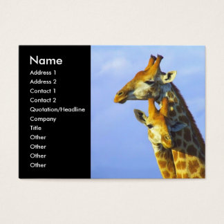 Twin Giraffes Business Cards