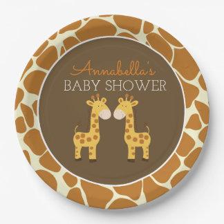 Twin Giraffes Twin Paper Plate