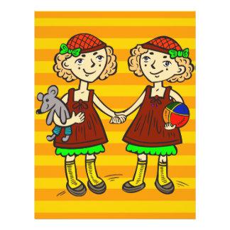 Twin Girls 21.5 Cm X 28 Cm Flyer