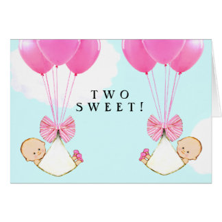Twin Girls Card