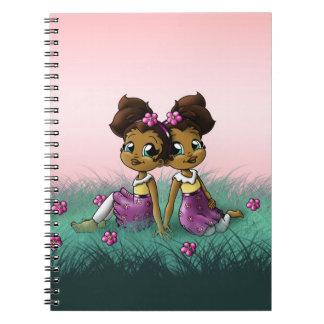"""Twin Girls"" Spiral Notebooks"