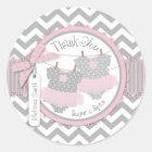 Twin Girls Tutus Chevron Print Thank You Label