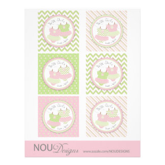Twin Girls Tutus Mix Print Large Cupcake Toppers 21.5 Cm X 28 Cm Flyer