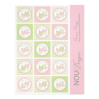 Twin Girls Tutus Mix Print Small Cupcake Toppers 21.5 Cm X 28 Cm Flyer