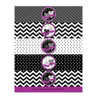 Twin Girls Tutus Mix Print Water Bottle Labels Personalized Flyer