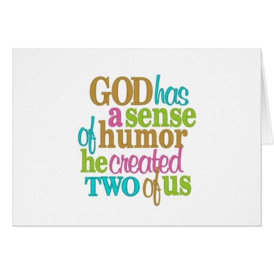 TWIN=GOD/MOM HAD A SENSE OF HUMOR=HAPPY BIRTHDAY CARD