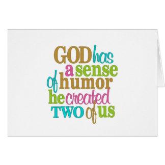 TWIN=GOD/MOM HAD A SENSE OF HUMOR=HAPPY BIRTHDAY GREETING CARD