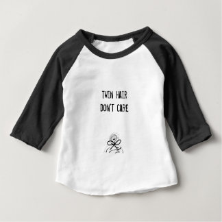 Twin hair don't care baby or kids baseball tshirt