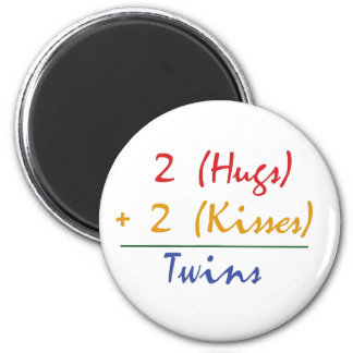 Twin Math 6 Cm Round Magnet