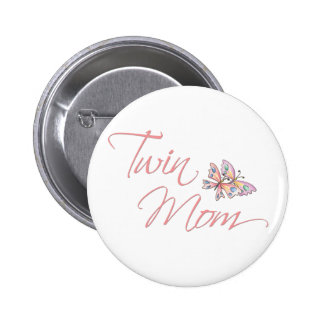 Twin Mom Butterflies 6 Cm Round Badge