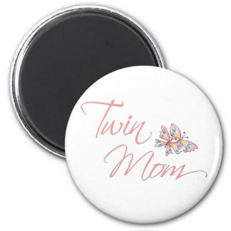Twin Mom Butterflies 6 Cm Round Magnet