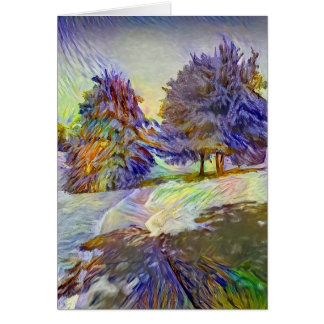 Twin Oaks Greeting Card - white envelopes included