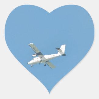 Twin Otter In Flight Heart Sticker