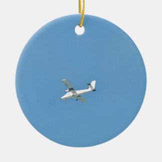 Twin Otter In Flight Round Ceramic Decoration