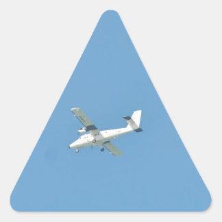 Twin Otter In Flight Triangle Sticker