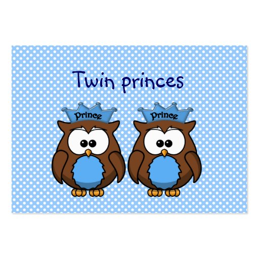 twin owl princes business card