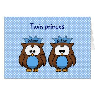 twin owl princes card
